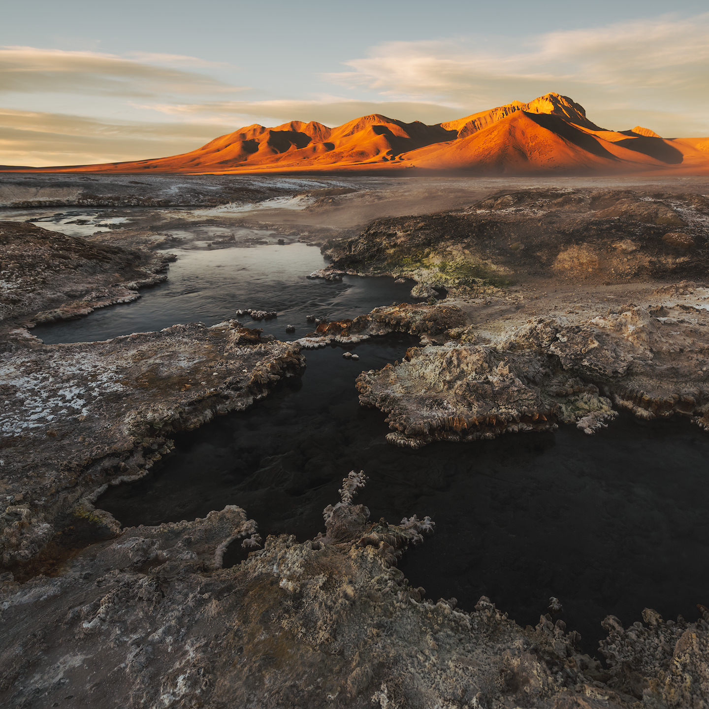 Thermal springs in the Altiplano.