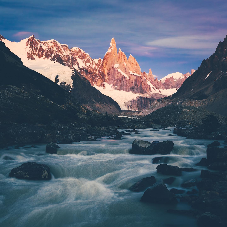 Cerro Torre and a river.