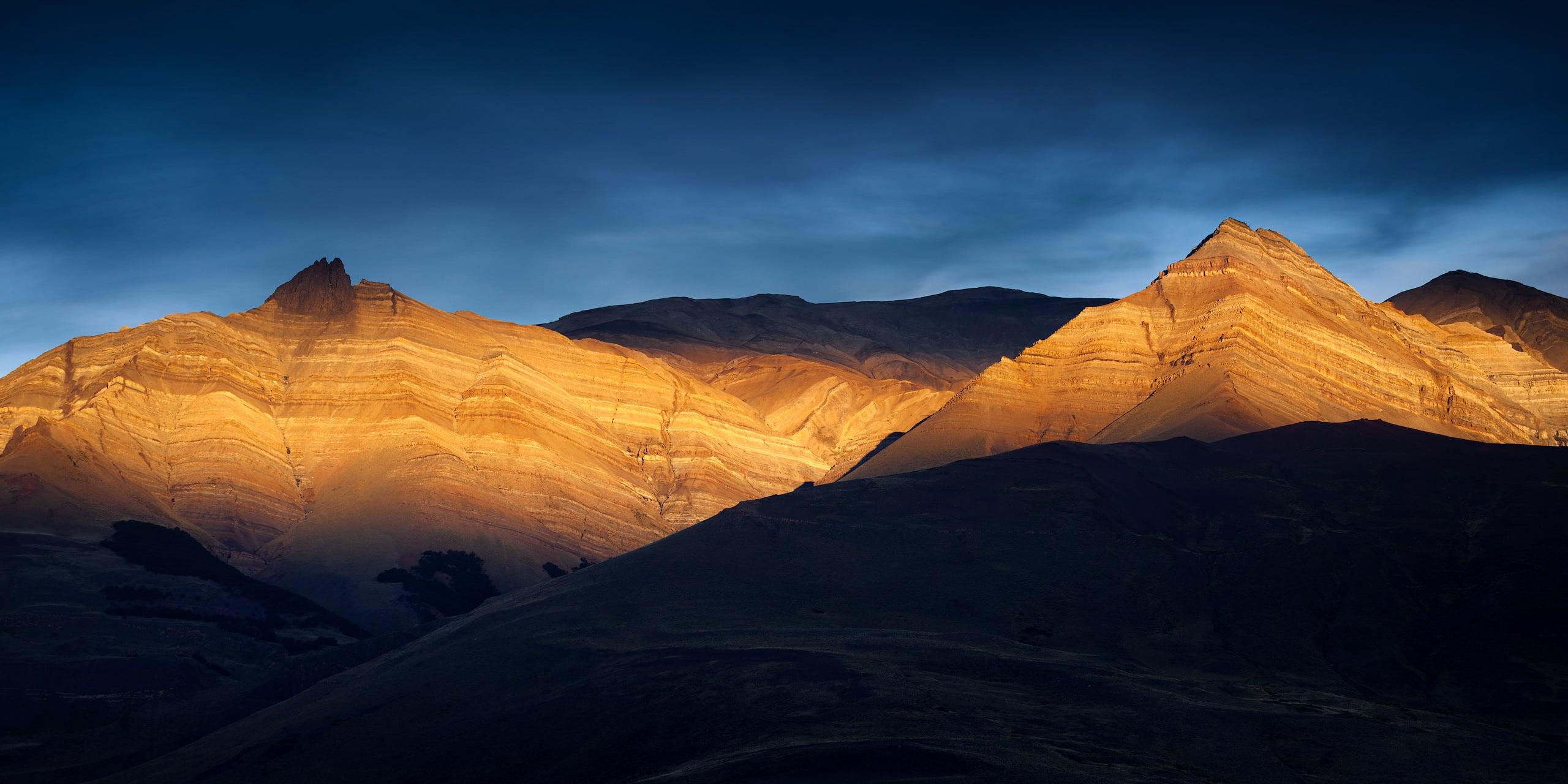Sunset on the mountains surrounding El Chaltén